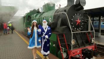 Ретропоїзд Діда Мороза курсуватиме в Києві двічі на день